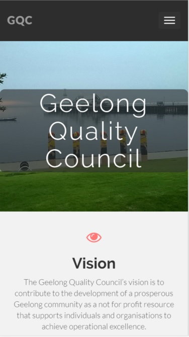 Mobile version of GQC Home Page